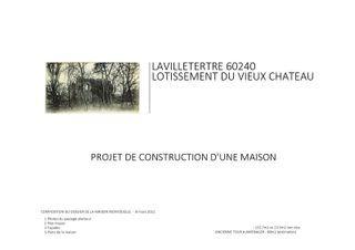 Terrain constructible LAVILLETERTRE  (60240)