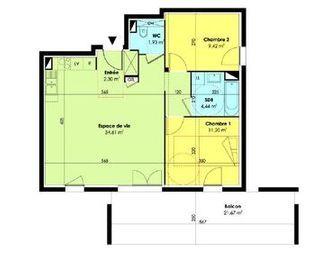 Appartement en frais réduits AMBERIEUX EN DOMBES  (01330)