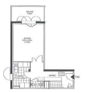 Appartement en frais réduits PONT DE CHERUY  (38230)
