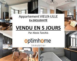 Appartement rénové LILLE 50 m² ()