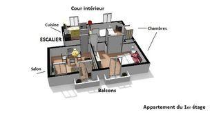 Appartement à rénover VICHY 56 m² ()