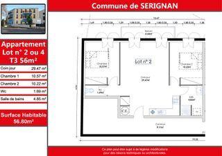 Appartement SERIGNAN 57 (34410)