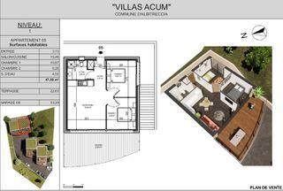 Appartement en frais réduits ALBITRECCIA 48 (20128)