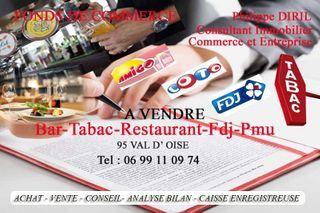 Bar - Tabac - Loto - Presse L'ISLE ADAM  (95290)