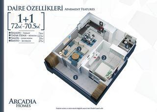 Etagenwohnung Alanya 72 m² ()