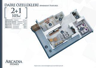 Etagenwohnung Alanya 105 m² ()
